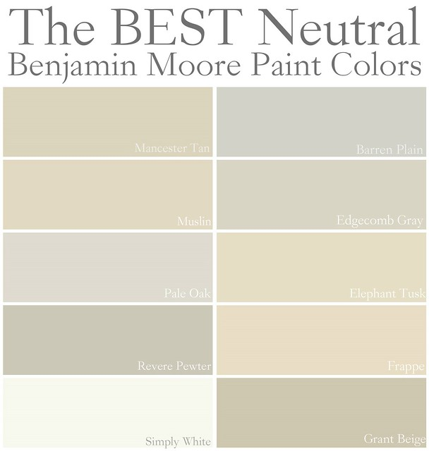 Best neutral paint colors benjamin moore enchanting best for Warm neutral paint colors