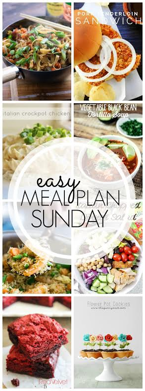Week 42. Collaborative weekly meal planning. 9 bloggers. 6 dinner ideas, one-weekend breakfast plus 2 desserts every single week equals one heck of a delicious menu!