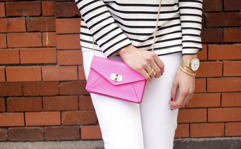 Stripes and Denim Coat Gloria Ortiz Heels Accessories Sunnies Outfit23