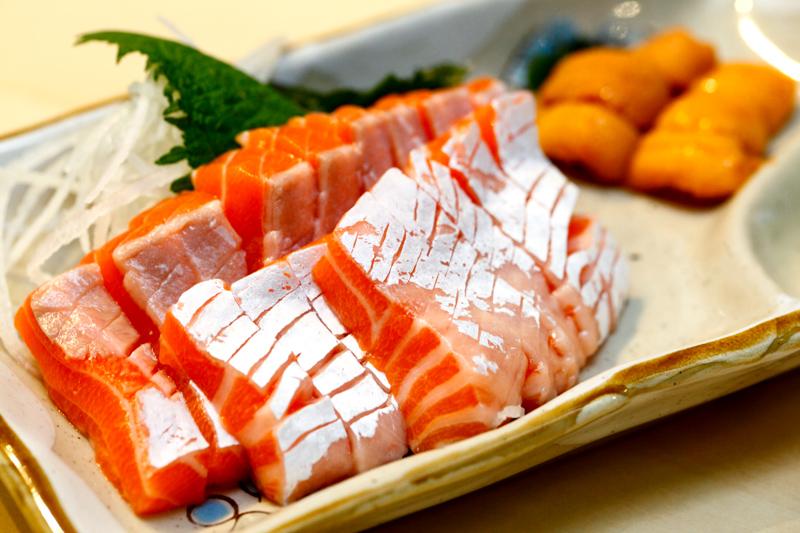 Uokatsu Salmon Belly Sashimi