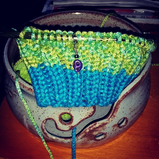 Instant gratification #Knitting is the best medicine #babyhat #babyknits #DogMomsWhoKnit #Lapdog Creations ©LapdogCreations