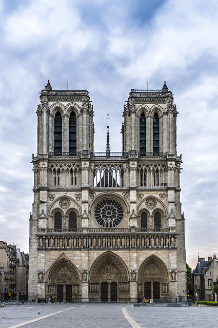 Notre-Dame, cloudy