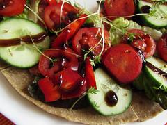 raw vegan buckwheat pizza