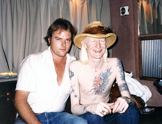 Tom Richards with Johnny Winter