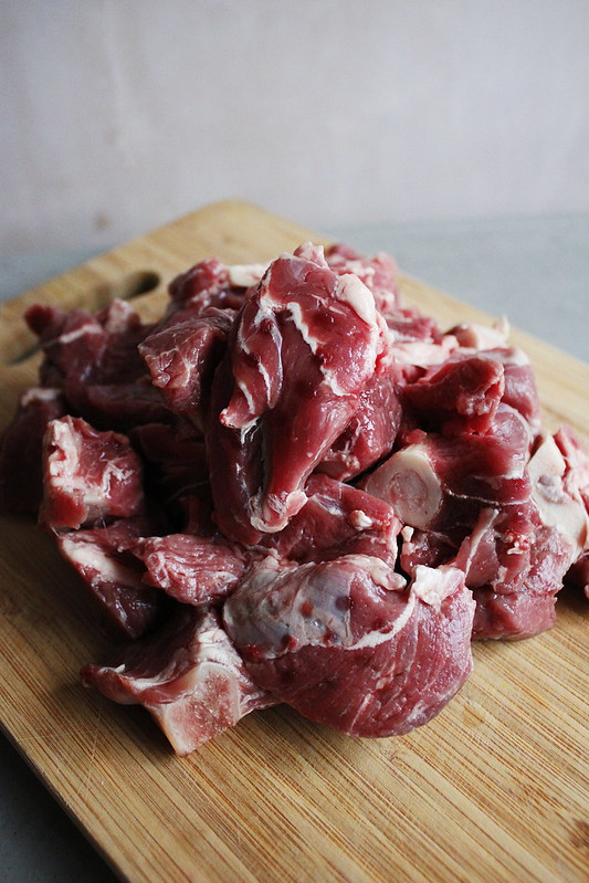 Beauty is Raw. Fresh Sheep Mutton.