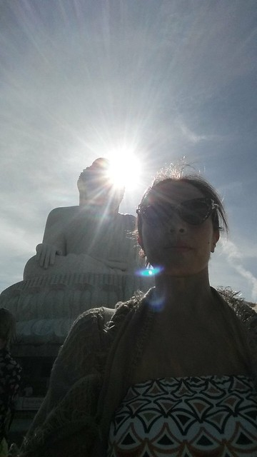 selfie at Big Buddha, Phuket