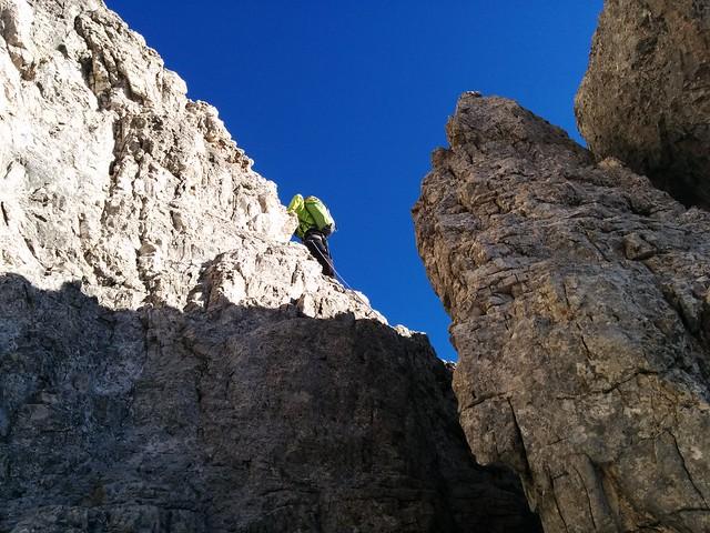 Oberhalb des Kamins, Aufstieg Große Zinne