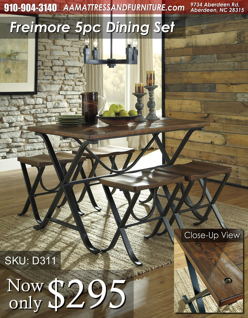 D311 Freimore Dining Set (wDetail) WM