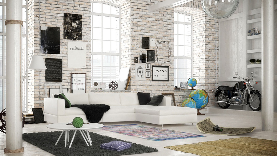 white-brick-living-room