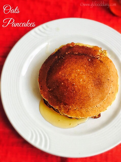 Oats Pancakes Recipe for Toddlers and Kids3
