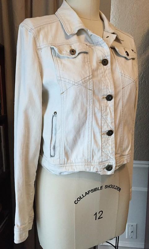 Lace Panel Denim Jacket - Before