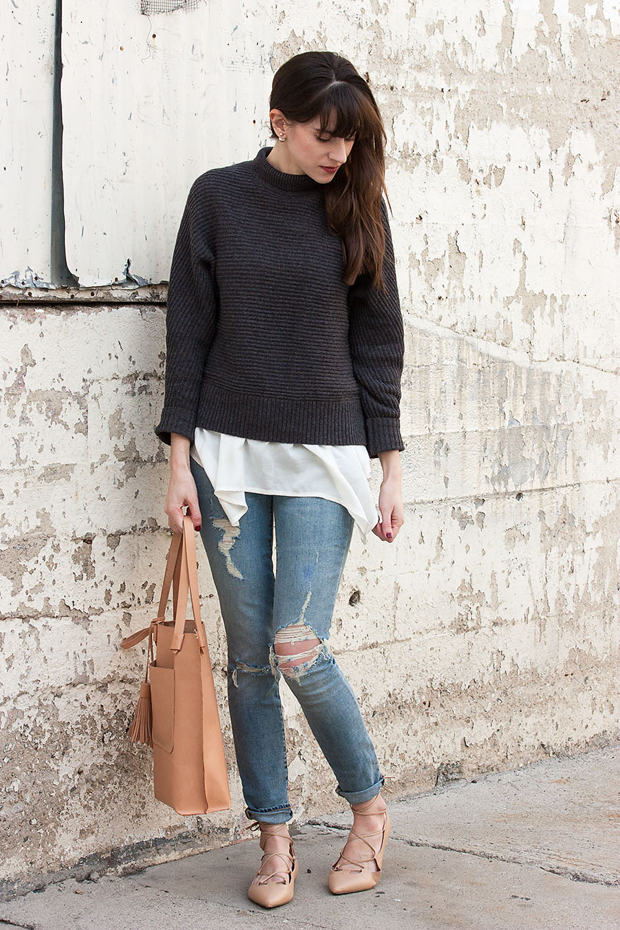 Minnie + George Tote, Distressed Jeans for Women