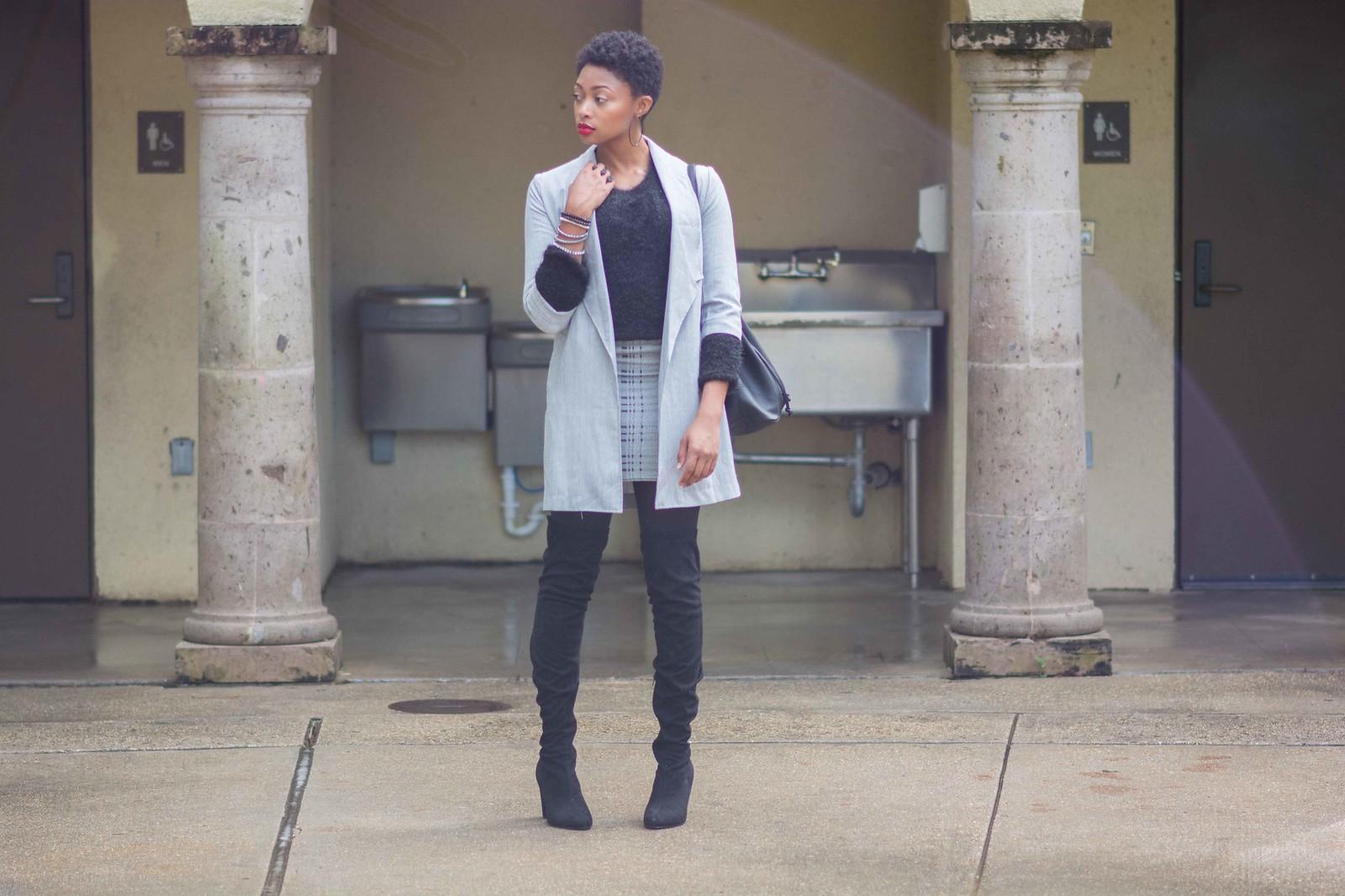 louisiana street style tartan mini skirt ootd