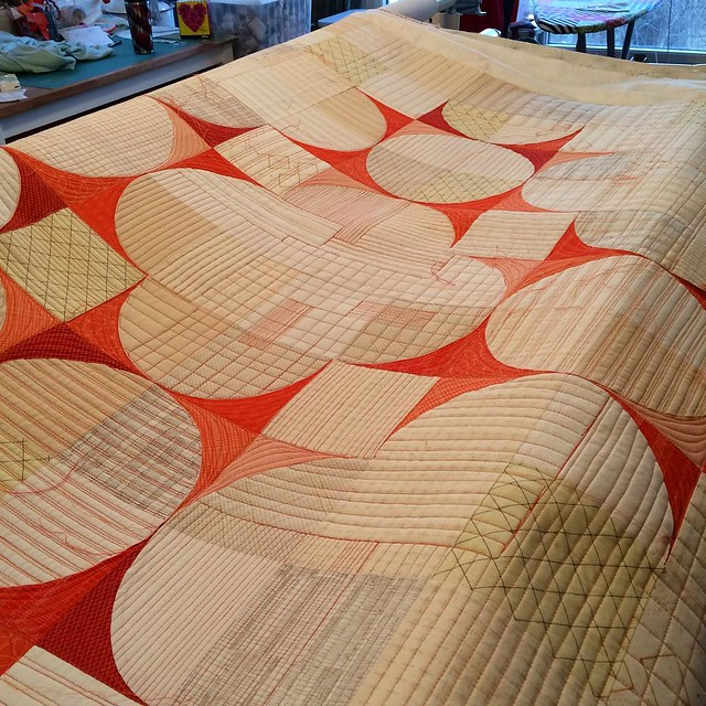 The quilting is done.