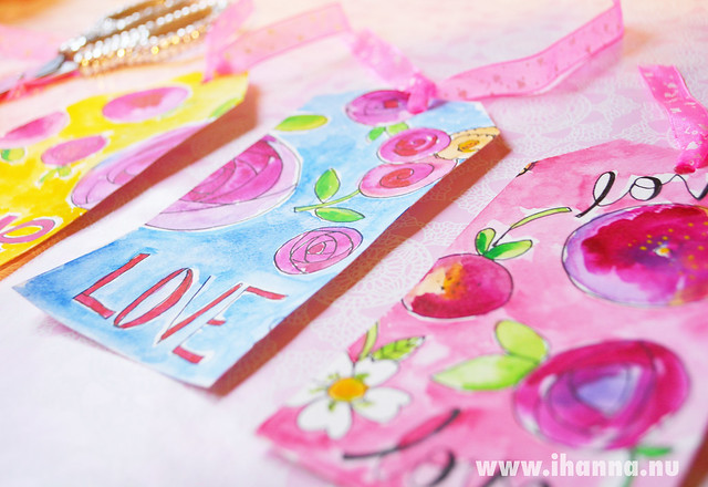 Cut tags for Valentine's Day - made by iHanna