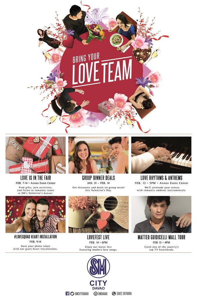 Valentines SM City Davao poster at DavaoLife.com