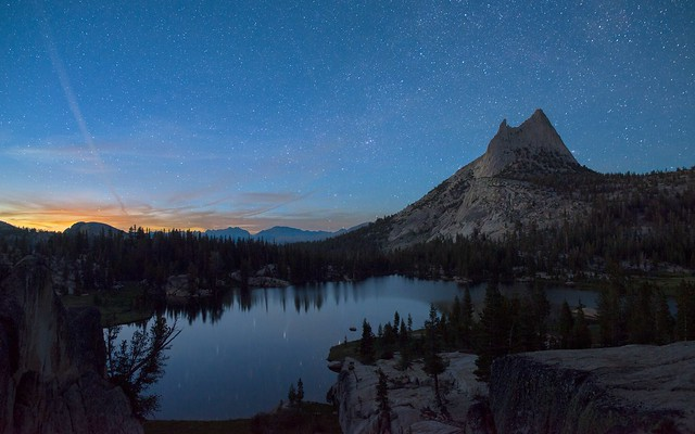 Nightfall at Cathedral Peak