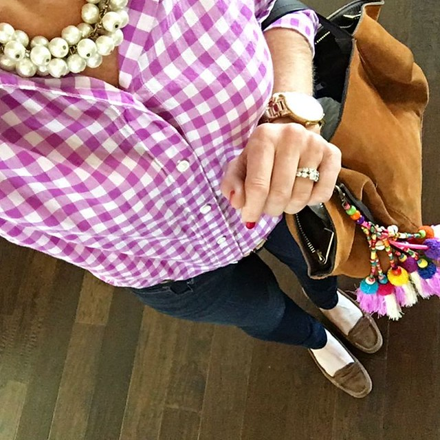 Today's outfit inspired by Spring-like temps & Valentine school parties. Cheers to Friday & raiding the kids candy haul! 🎉🍭🍬💗 #sugarplumstyle // www.liketk.it/2ajnB