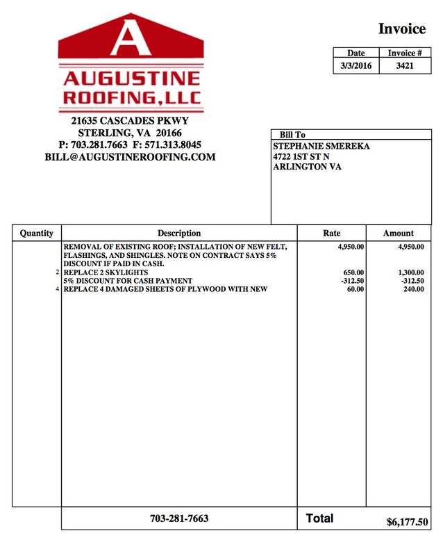 roof invoice roof invoice - Petit.comingoutpoly.co
