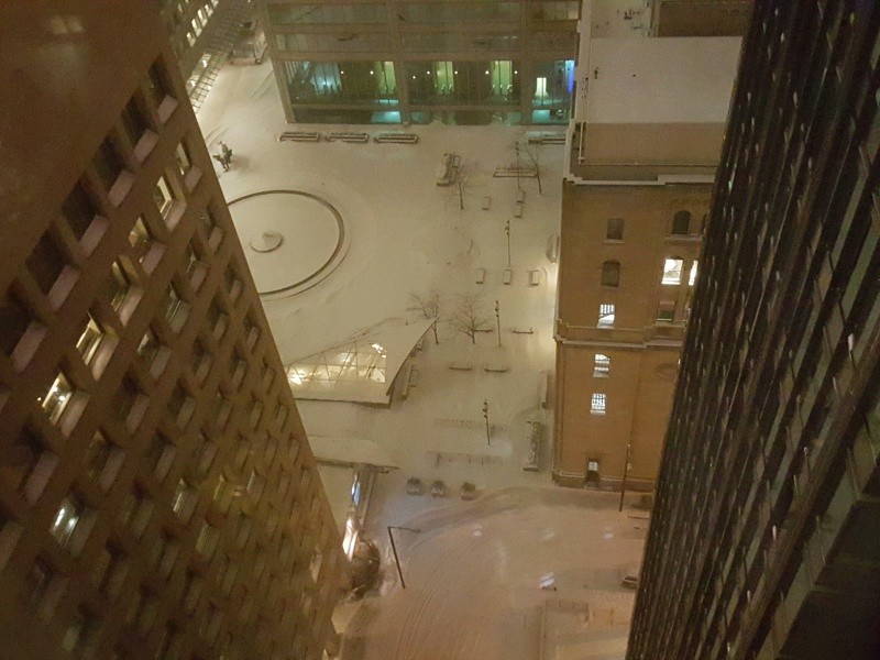 Commerce Court snow