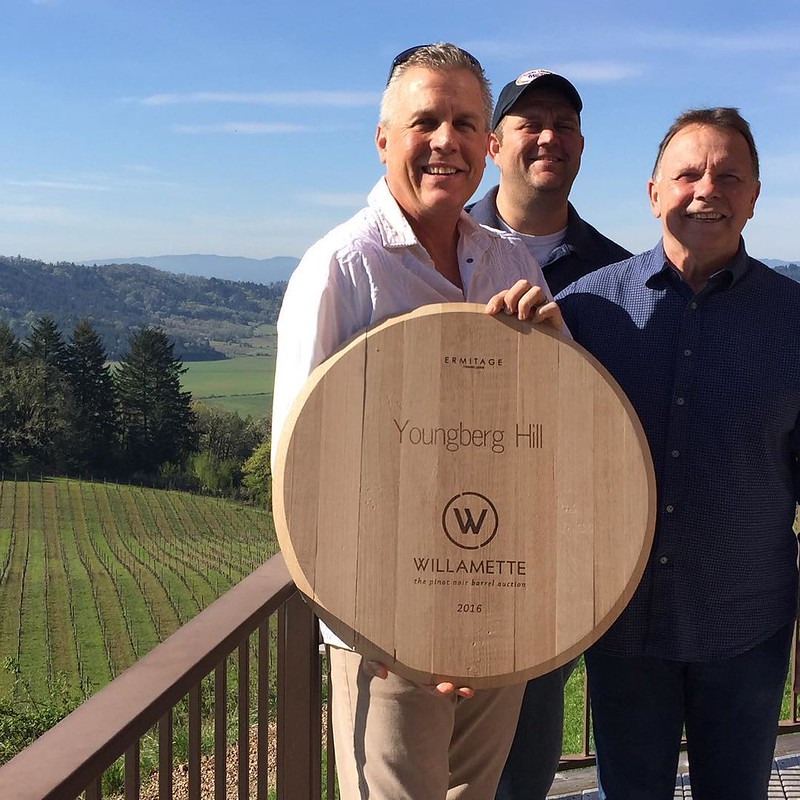 Congratulations to Cedarbrook Lodge for being the winner of Youngberg Hill Willamette Valley barrel auction. #cedarbrooklodge