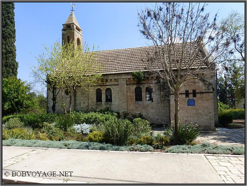 הכנסייה האוונגלית ב- אלוני אבא ב- טיול קצר בצפון הארץ