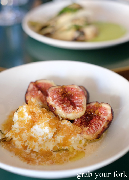 Figs, ricotta and pangrattato at 10 William Street, Paddington
