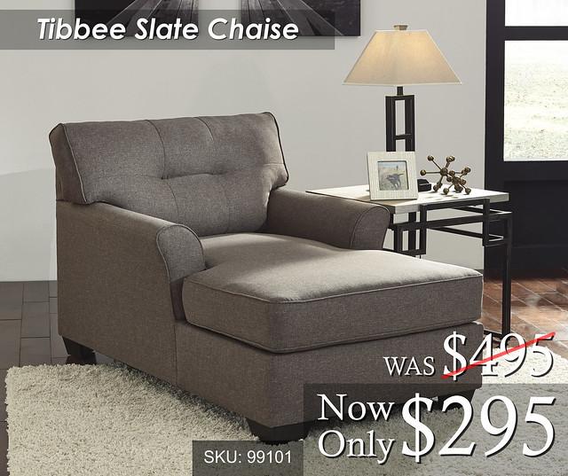 Tibbee Slate Chaise