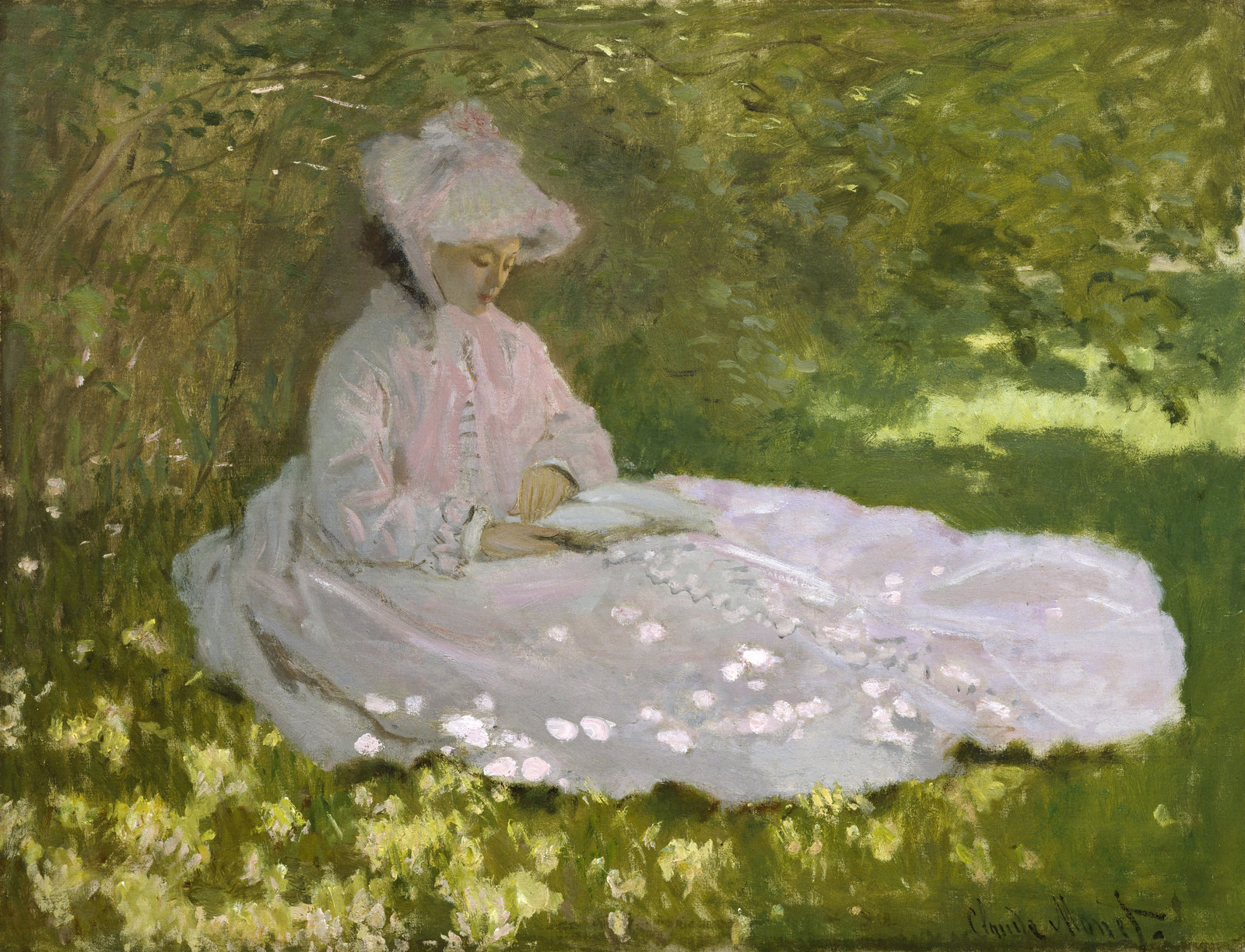 Springtime by Claude Monet, 1872