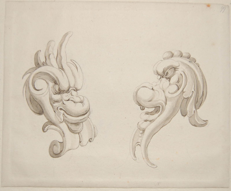 Arent van Bolten - Monster 99, from collection of 425 drawings, 1588-1633