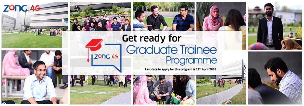 ZONG  Graduate Trainee Program 2016