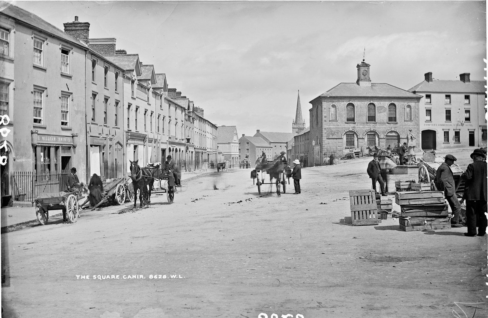 Old photo of the Square, Cahir, Co. Tipperary, Ireland