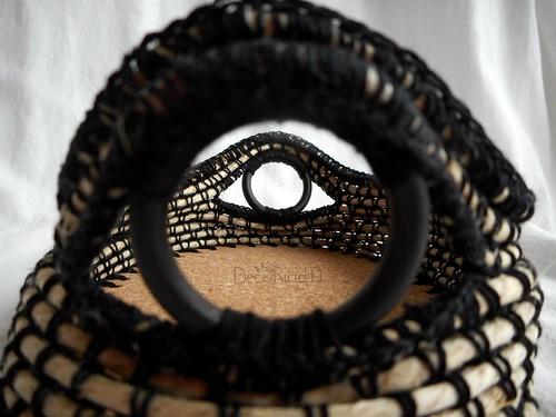 cestino spago, cotone, sughero e anelli tende 4
