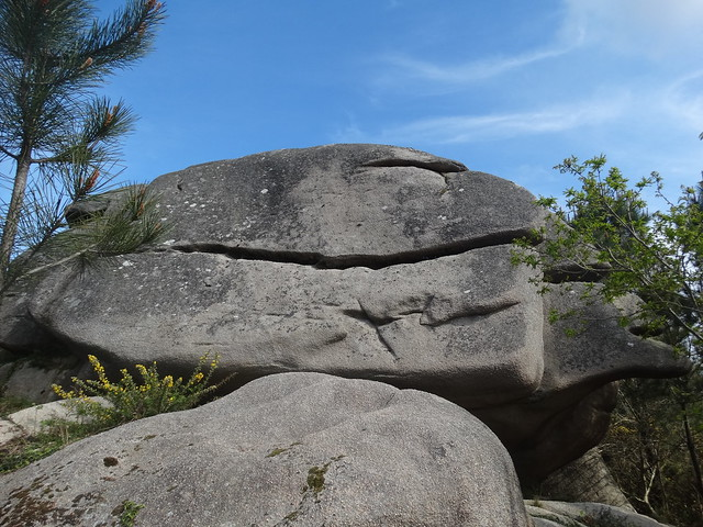Piedra en la Ruta dos Penedos de Pasarela e Traba