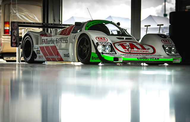 Mark Sumpter - 1989 Porsche 962 at the 2016 Silverstone Classic Media Day (Photo 1)