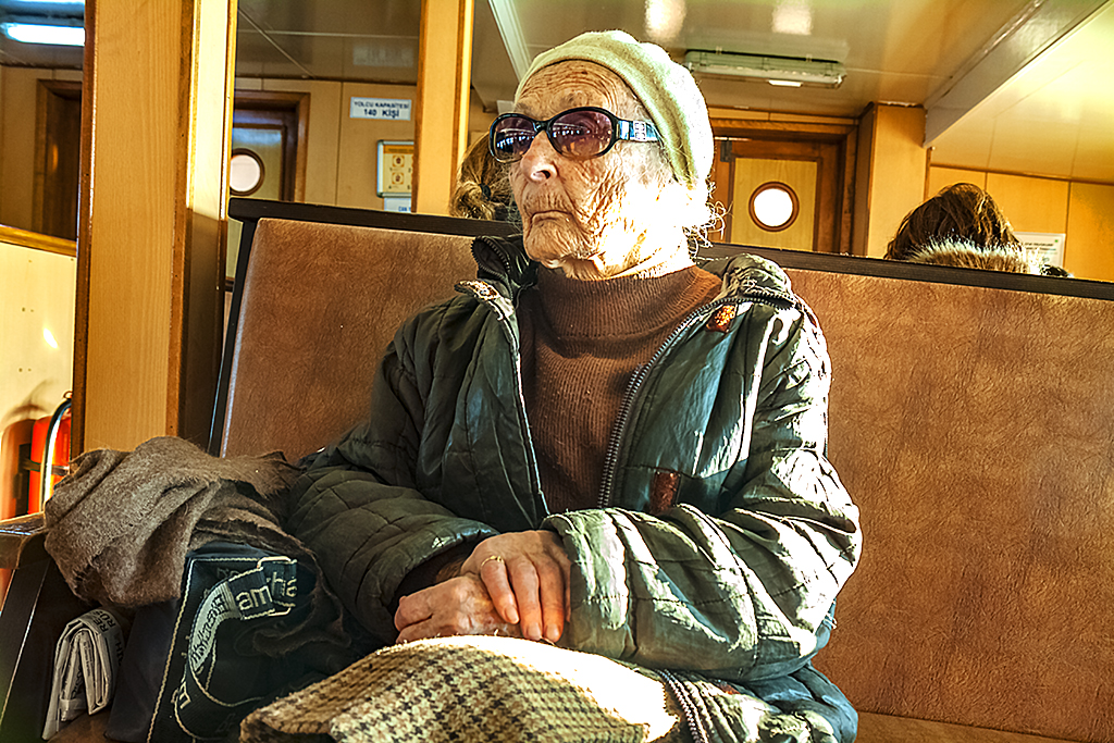 Old lady on ferry to Burgazada