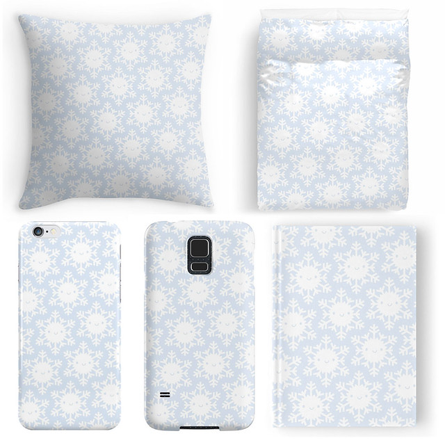Winter Snowflakes pattern at Redbubble
