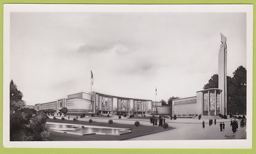 PH00191A Pavilions of Metropolitan France (left) and the City of Paris (right) - 1935 International Exposition - Brussels - Belgium - Photo - 1935