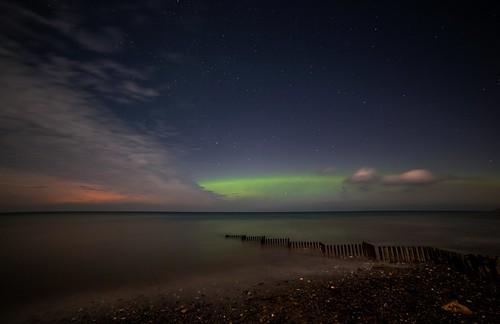 Glen Moaar Beach and Northern lights