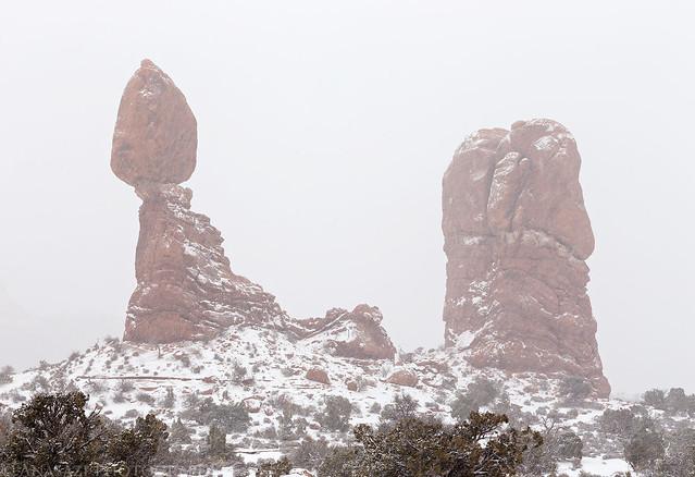 Balanced Rock Snowstorm