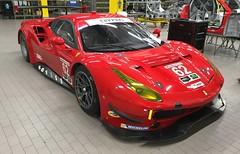 Risi Competizione's Ferrari 488 GTE red, Ferrari/Michelotto factory