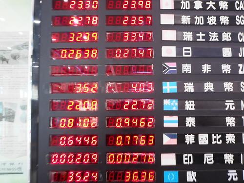 高雄国際空の両替レート