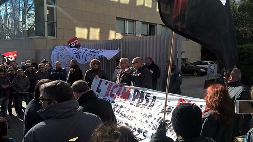 #pressingICAM Es manifesten a l'ICAM contra les altes injustificades convocades per CGT Bus 3