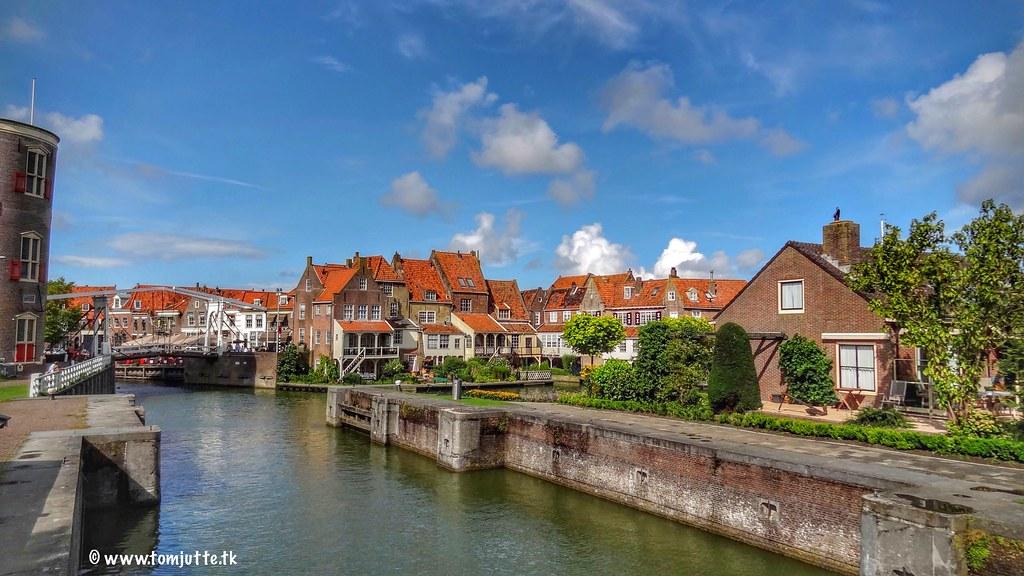 Het Zuiderspui, Enkhuizen, Nederland - 3053