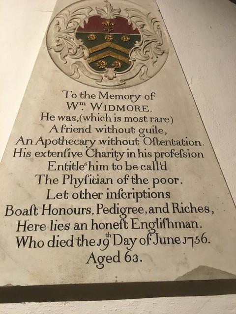 Inscription, Kingsgate chapel