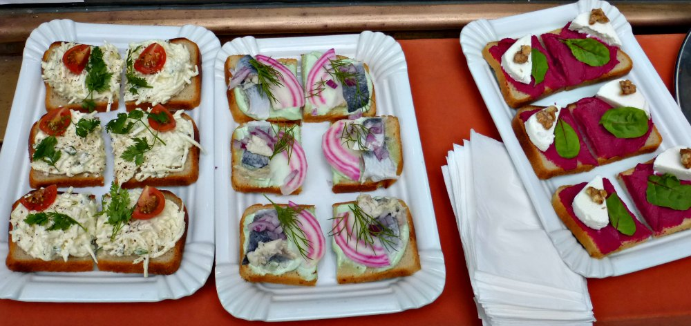 Prague Open-faced sandwiches