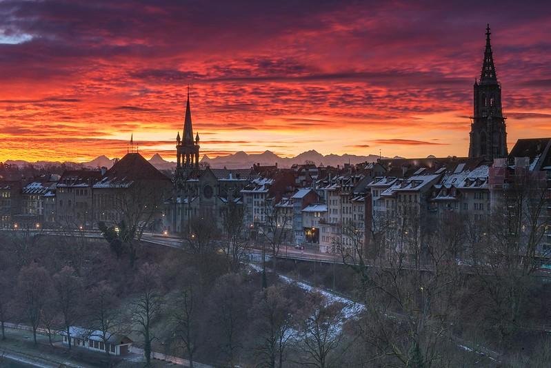 Burning sky - Bern