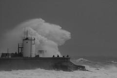 Stormy seas at Porthcawl, south Wales