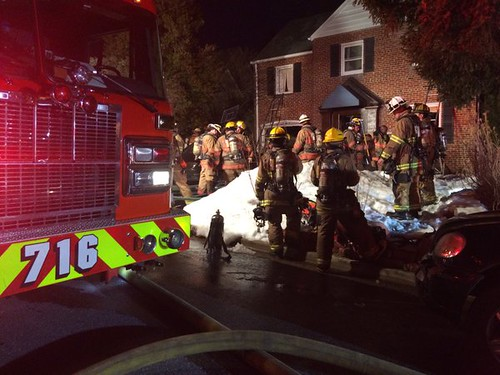 House Fire in the 9500 Block of Biltmore Drive, Silver Spring