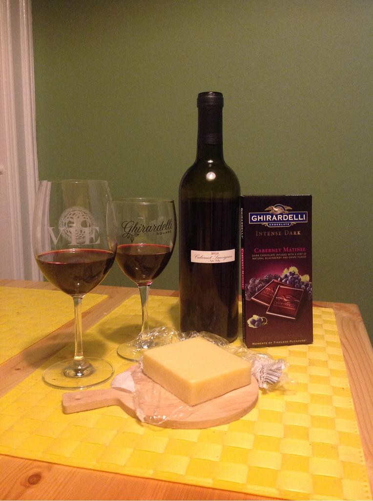 Cabernet Sauvignon, Grafton 2 Year Cheddar & Cabernet Matinee Dark Chocolate 1